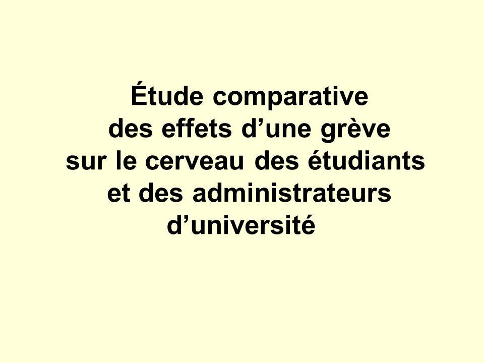 Étude comparative des effets dune grève sur le cerveau des étudiants et des administrateurs duniversité