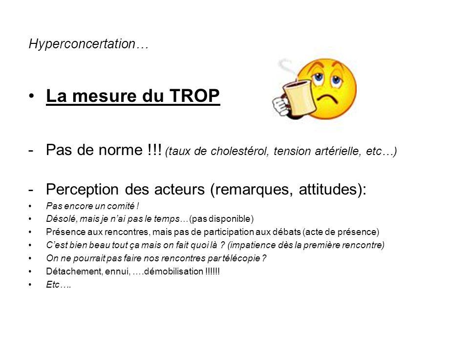 Hyperconcertation… La mesure du TROP -Pas de norme !!.