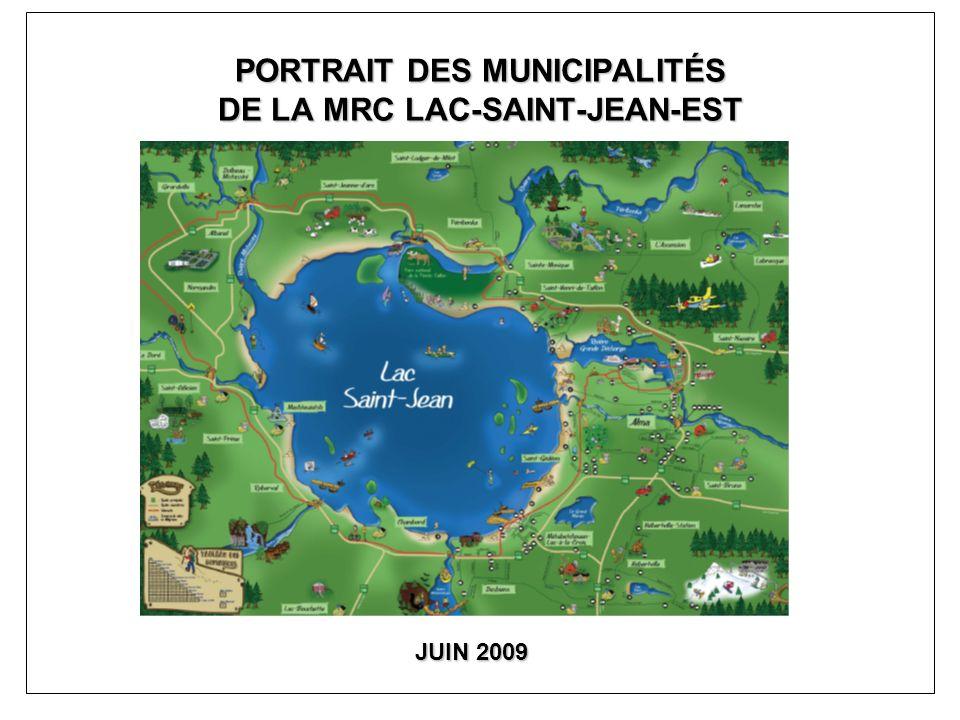 PORTRAIT DES MUNICIPALITÉS DE LA MRC LAC-SAINT-JEAN-EST JUIN 2009