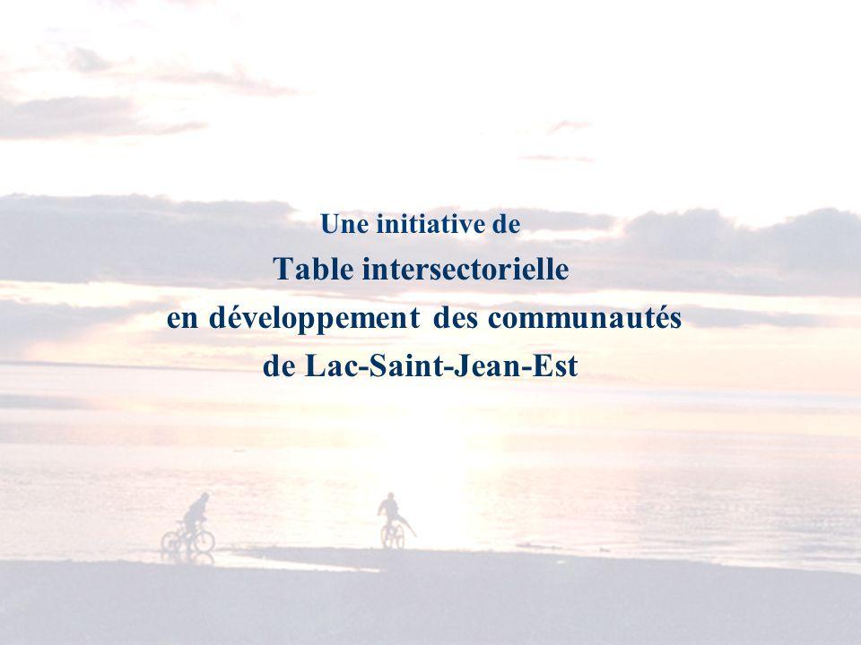 Une initiative de Table intersectorielle en développement des communautés de Lac-Saint-Jean-Est