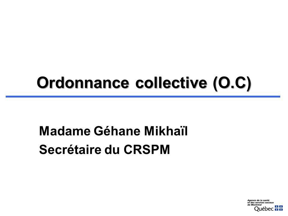 4. Résultat Le CRSP a suggéré des modifications et a entériné le document type préparé par le pharmacien consultant Le document a été diffusé aux CSSS