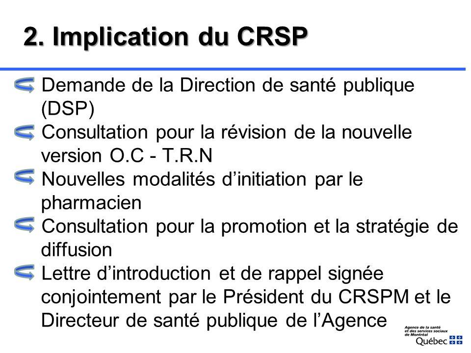1. Objectifs T.R.N initiée par le pharmacien Accessibilité et équité des soins pharmaceutiques pour tous les Montréalais Impact de la contribution du