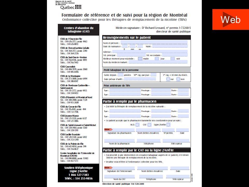 http://www.santepub-mtl.qc.ca/tabagie/pdf/ordonnancecollective.pdf http://www.santepub-mtl.qc.ca/tabagie/pdf/ordonnance_formulaire.pdf Ligne de garde de la Direction de santé publique 514 528-2400 poste 3523