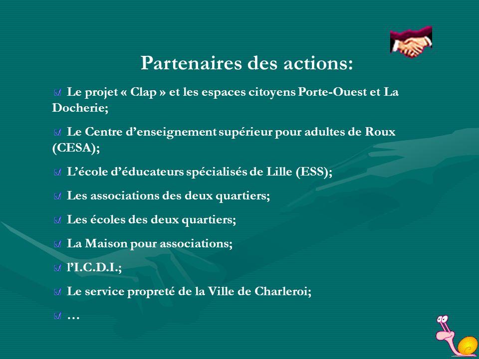 Coucou les immondices Projet clap 2005-2007 Action pilotée par les Espaces citoyens Porte-Ouest, La Docherie Et par Jacques Vanhaverbeke