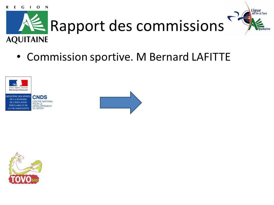 Rapport des commissions Commission calendrier. M Jean Denis BEAUVAIS