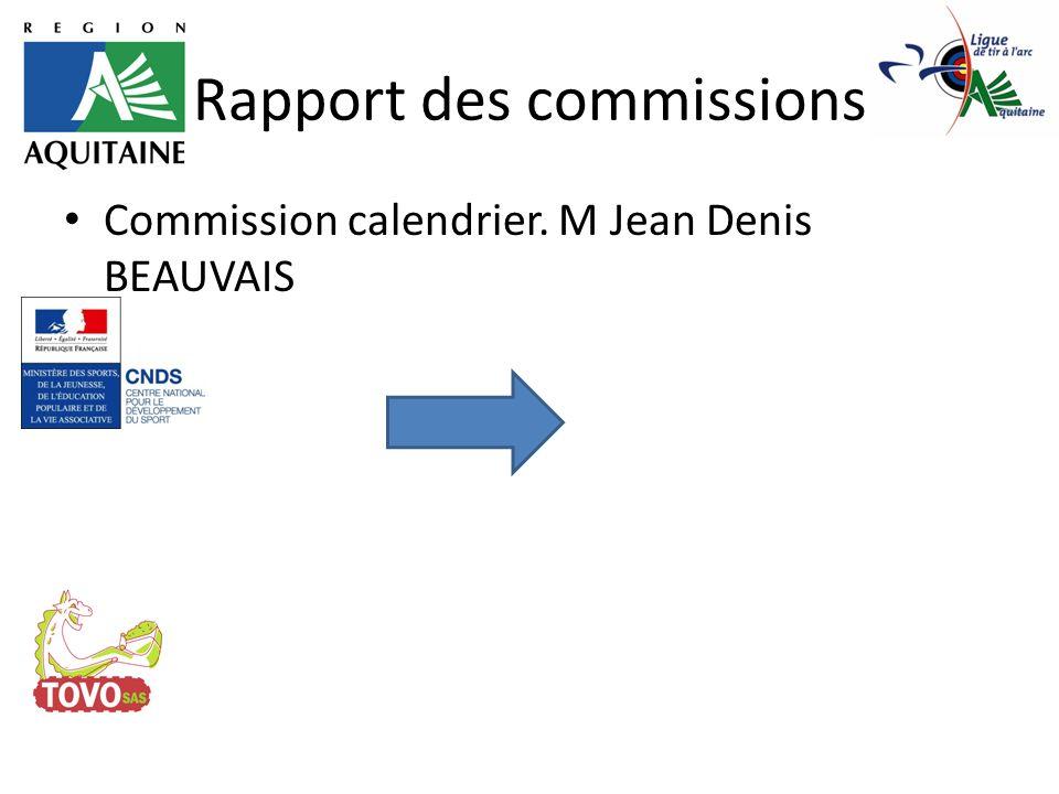 Rapport des commissions Rapport financier. M Jean jacques TISNE
