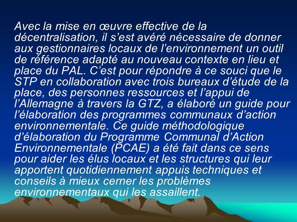 Lambition du Ministère du Développement Rural et de lEnvironnement est et demeure le développement durable du Mali.