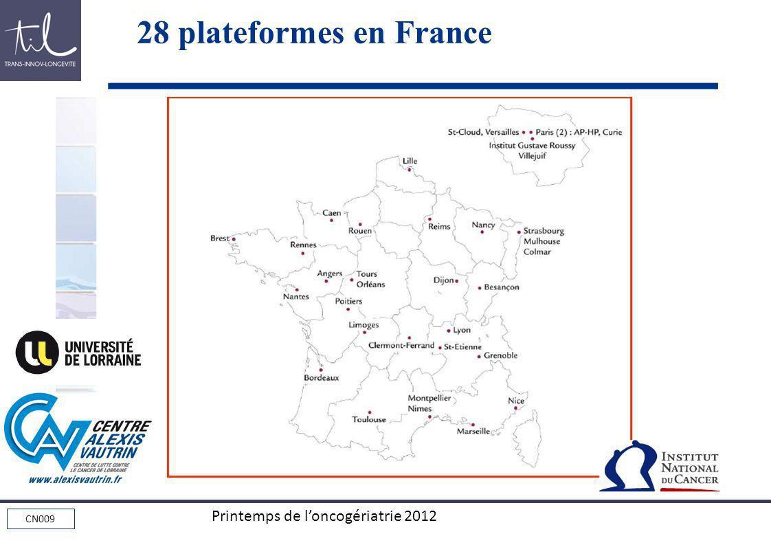 CN009 Printemps de loncogériatrie 2012 28 plateformes en France