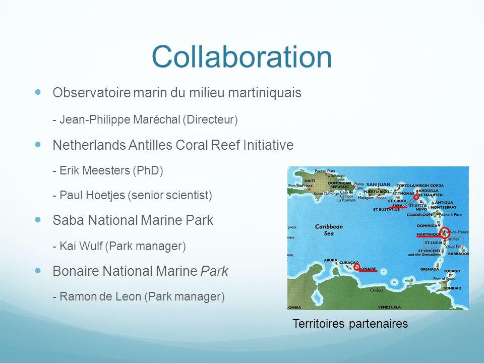 Collaboration Observatoire marin du milieu martiniquais - Jean-Philippe Maréchal (Directeur) Netherlands Antilles Coral Reef Initiative - Erik Meester