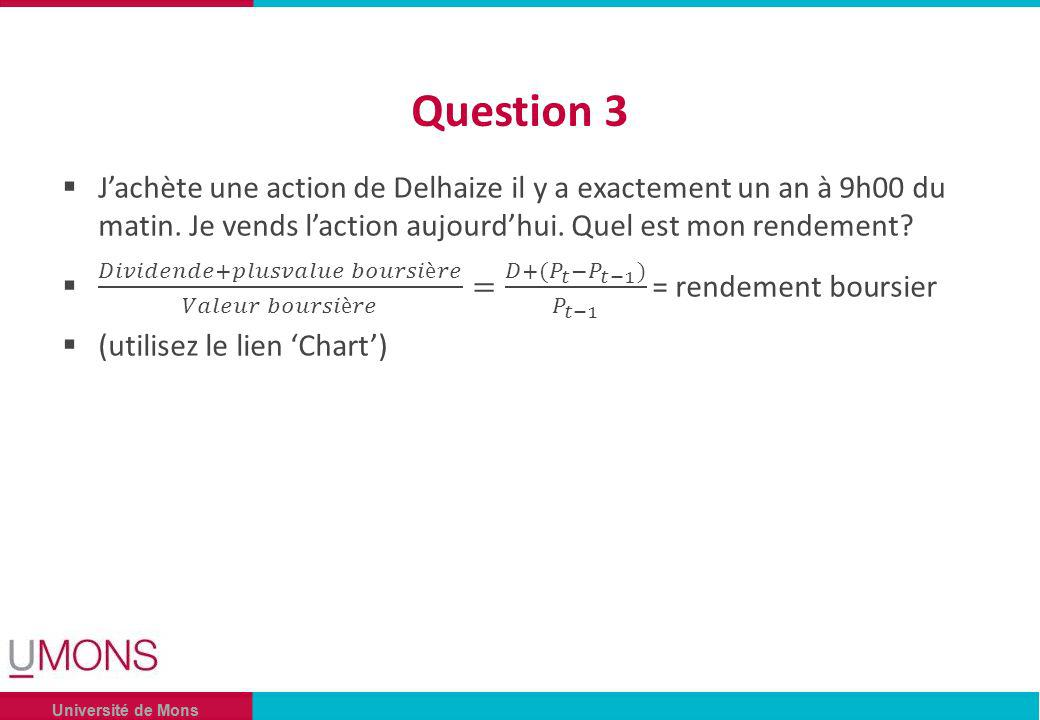 Université de Mons Question 3