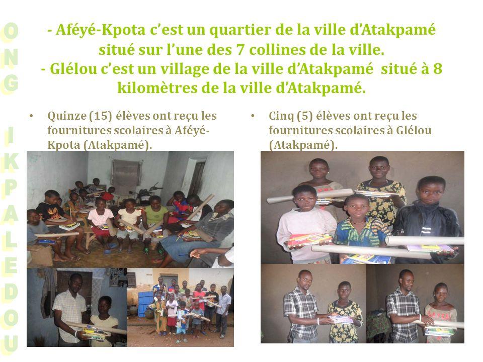 - Aféyé-Kpota cest un quartier de la ville dAtakpamé situé sur lune des 7 collines de la ville.