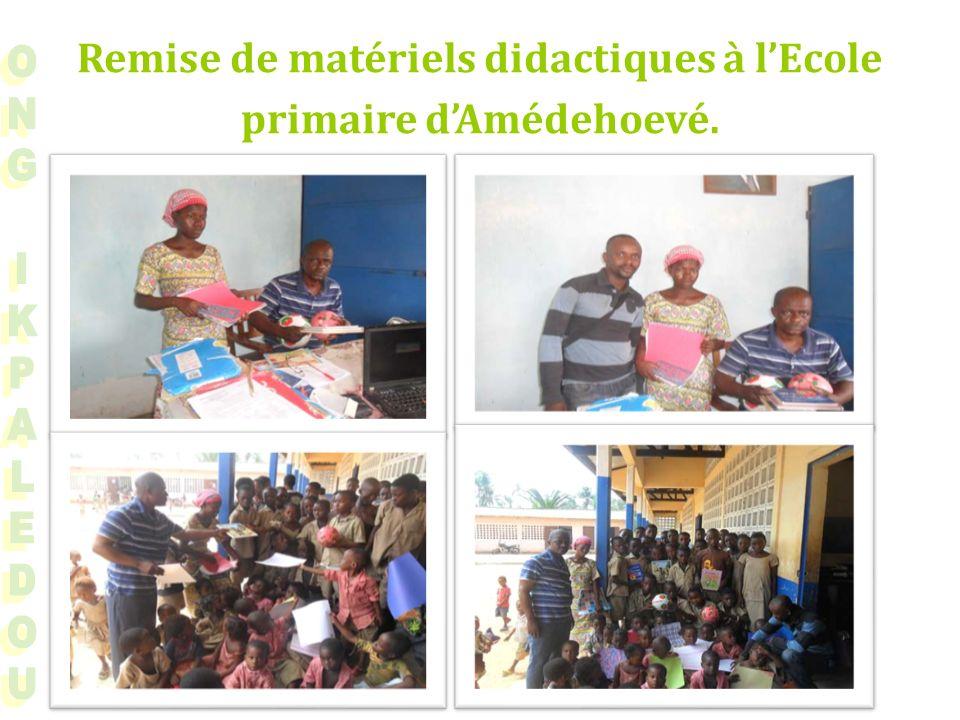 Remise de matériels didactiques à lEcole primaire dAmédehoevé.