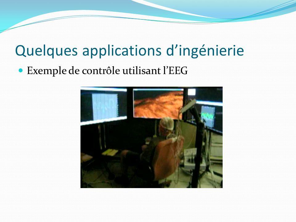 Quelques applications dingénierie Exemple de contrôle utilisant lEEG