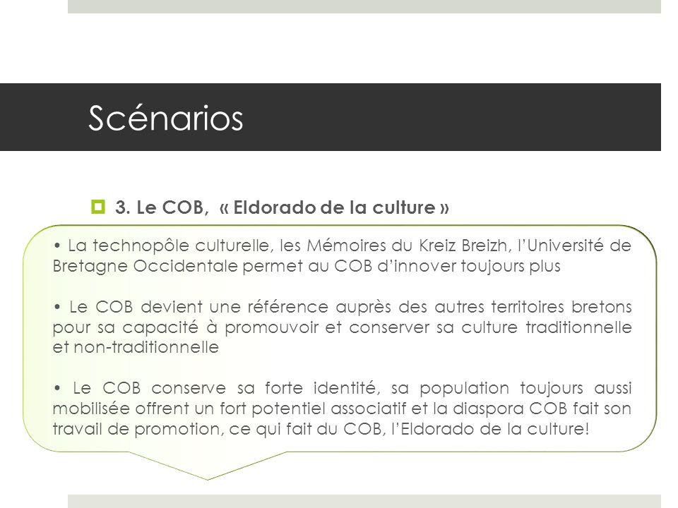 Scénarios 3. Le COB, « Eldorado de la culture » La technopôle culturelle, les Mémoires du Kreiz Breizh, lUniversité de Bretagne Occidentale permet au