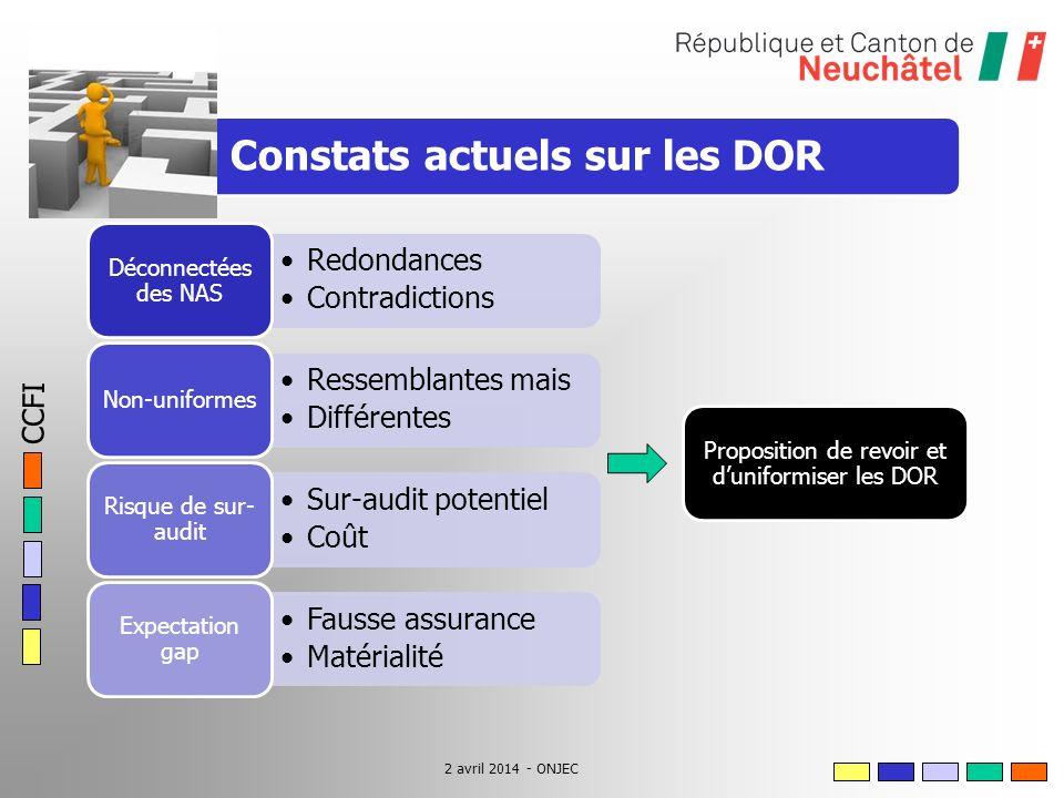 CCFI 2 avril 2014 - ONJEC Proposition de revoir et duniformiser les DOR