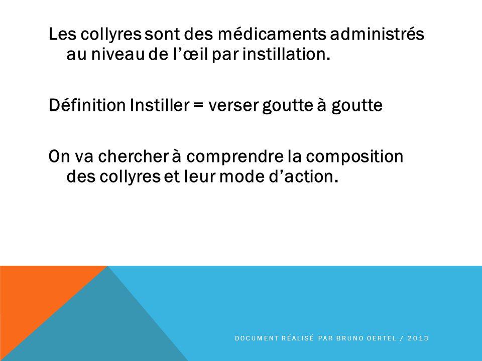 Les collyres antiseptiques agissent en surface sur la conjonctive en combattant linfection appelée conjonctivite DOCUMENT RÉALISÉ PAR BRUNO OERTEL / 2013