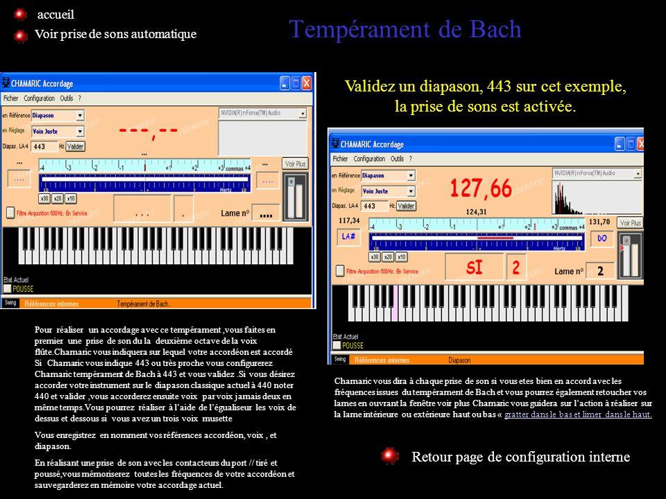 Clonage et accordage Retour page de configuration interne Voir prise de sons automatique Cette fonction destinée aux utilisateurs confirmés vous sera