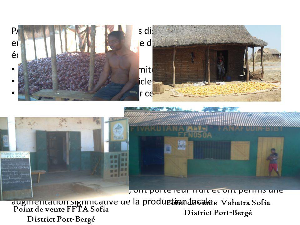 PARECAM Sofia sest affilié à des distributeurs locaux mettre en place un excellent système de distribution en intrants et équipements agricoles : Appr