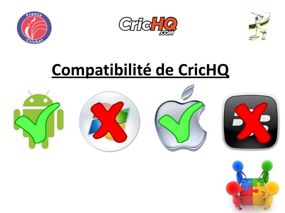 Compatibilité de CricHQ