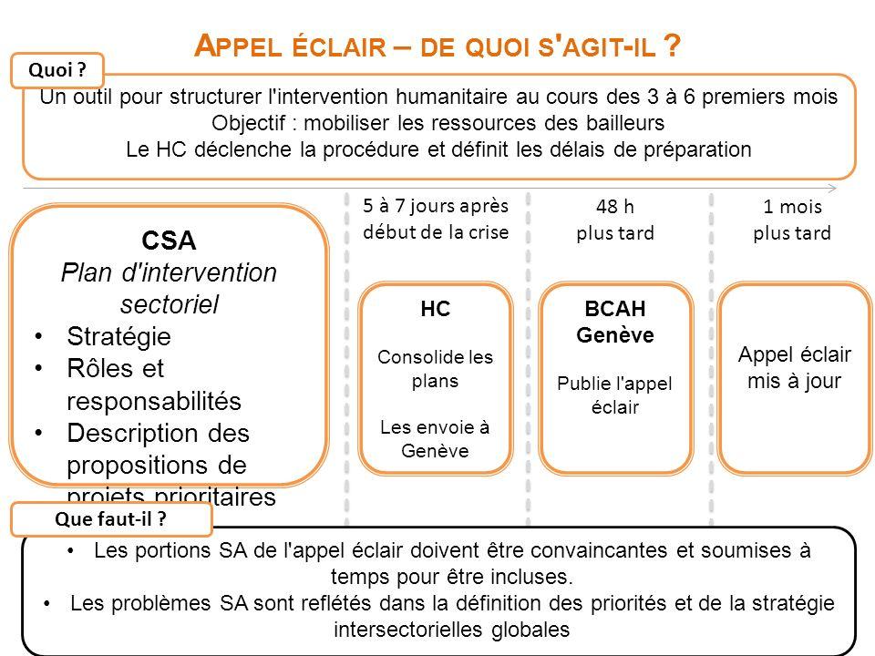 11 A PPEL ÉCLAIR – DE QUOI S AGIT - IL .