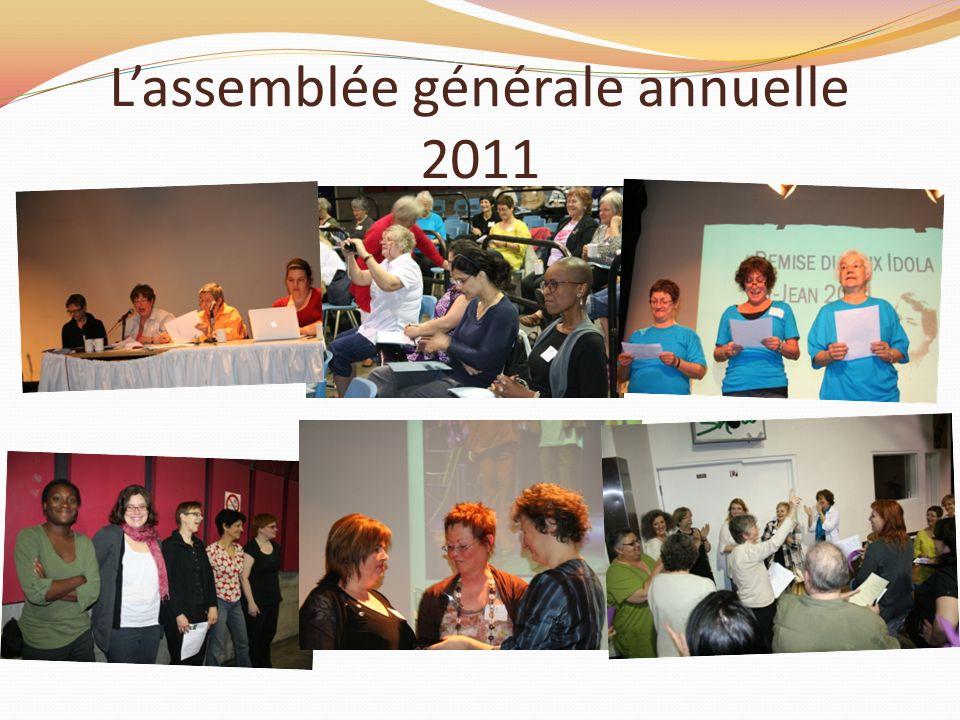 Lassemblée générale annuelle 2011