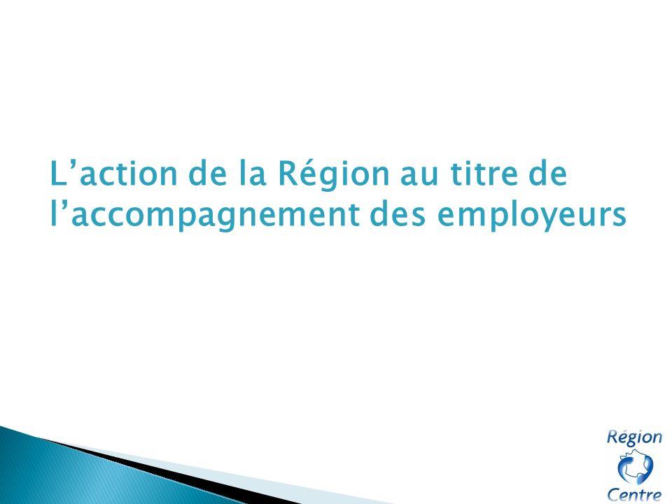 Laction de la Région au titre de laccompagnement des employeurs