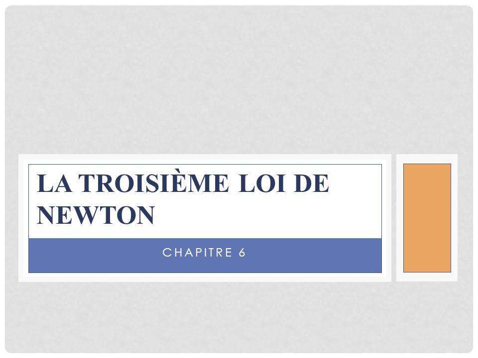 CHAPITRE 6 LA TROISIÈME LOI DE NEWTON