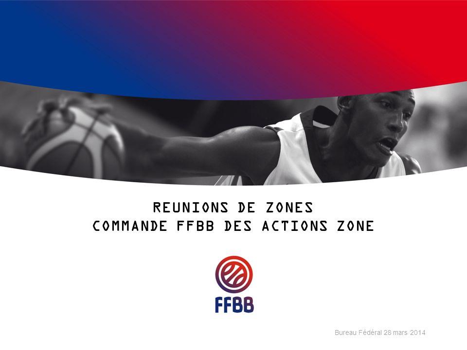 REUNIONS DE ZONES COMMANDE FFBB DES ACTIONS ZONE Bureau Fédéral 28 mars 2014
