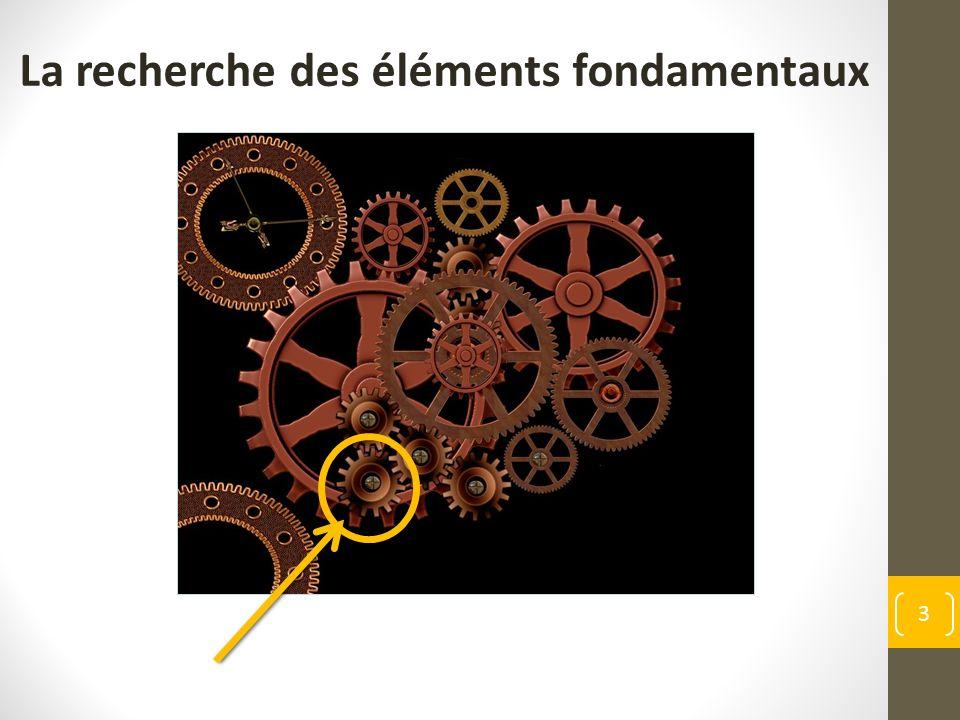 3 La recherche des éléments fondamentaux