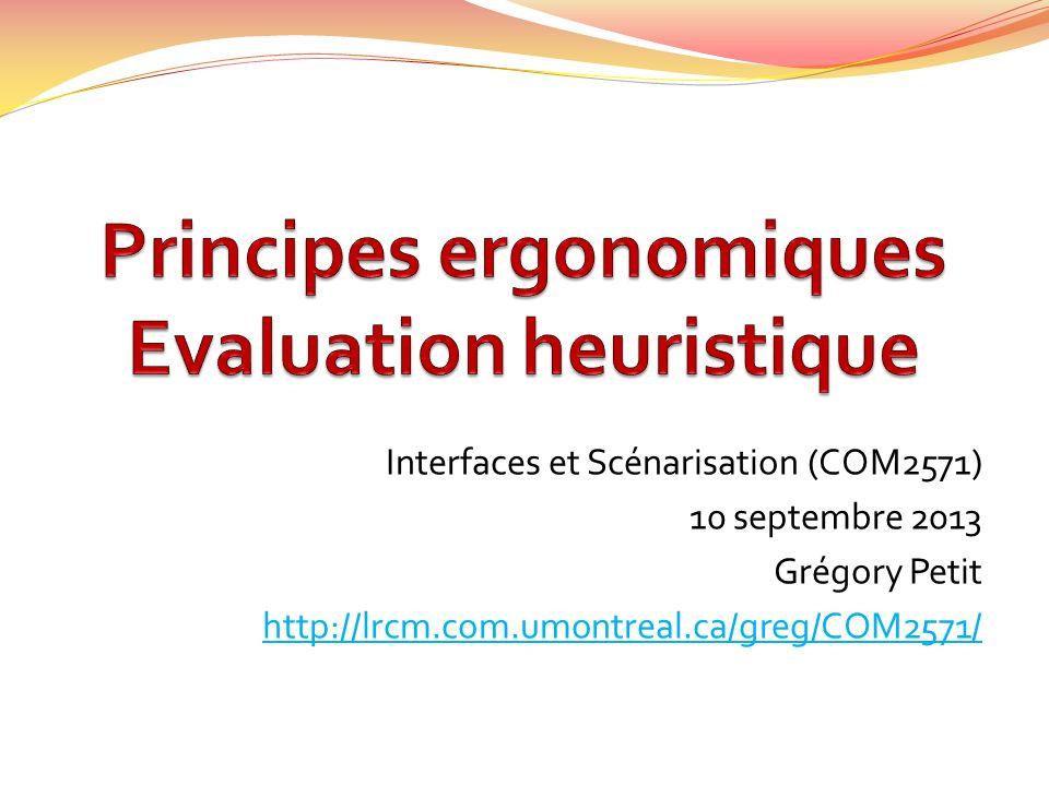 Evaluation heuristique de Nielsen (1990)