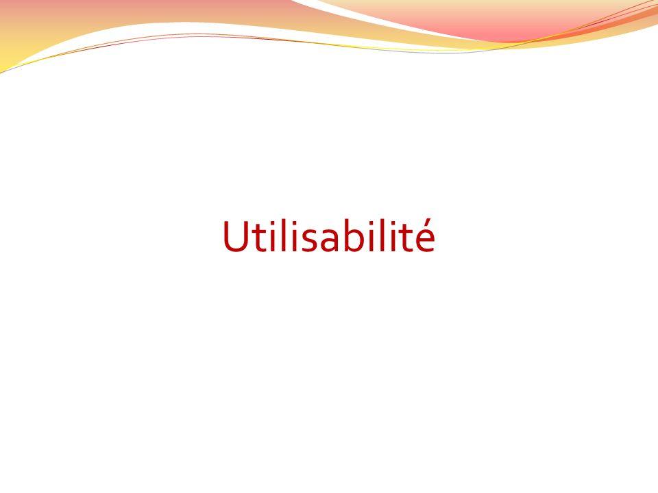 Utilisabilité