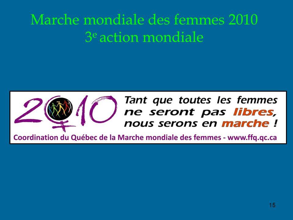 15 Marche mondiale des femmes 2010 3 e action mondiale