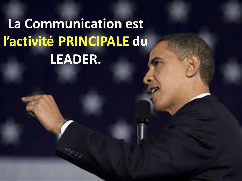 La Communication est lactivité PRINCIPALE du LEADER.