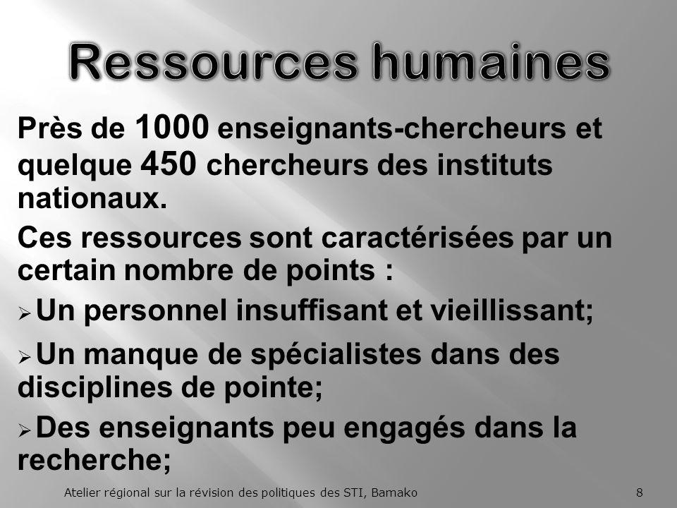 Près de 1000 enseignants-chercheurs et quelque 450 chercheurs des instituts nationaux.