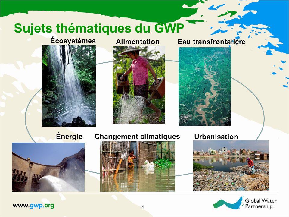 Questions stratégiques transversales 5 Égalité des sexes : les femmes jouent un rôle central pour fournir, gérer et protéger l eau.