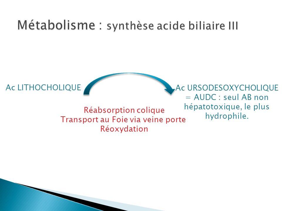 ACIDES BILIAIRES PRIMAIRES SECONDAIRES TERTAIRES ACIDES BILAIRES CONJUGUES Glycine Taurine VESICULE BILIAIRE Tube digestif FOIE