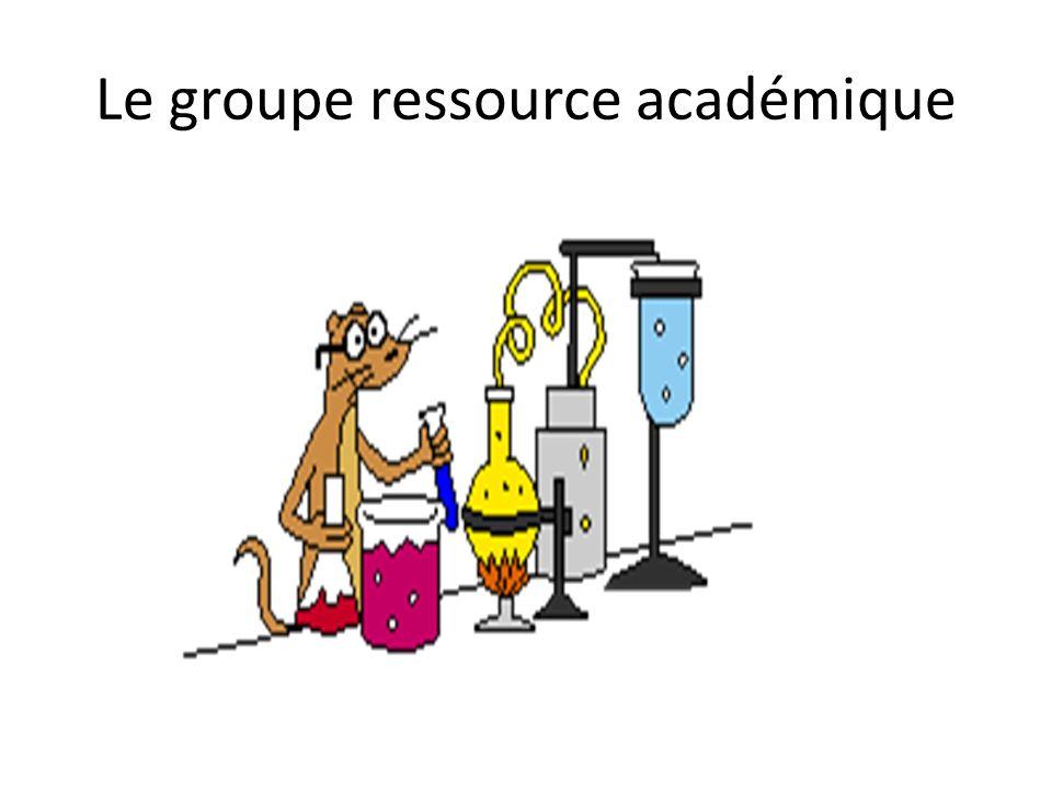 Le groupe ressource académique