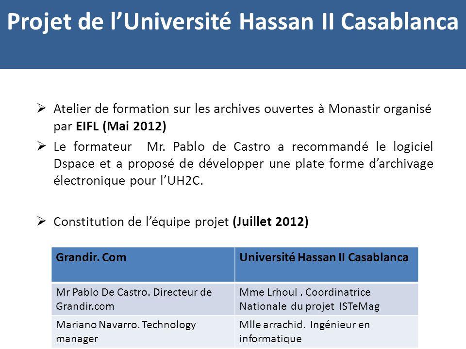 Atelier de formation sur les archives ouvertes à Monastir organisé par EIFL (Mai 2012) Le formateur Mr.