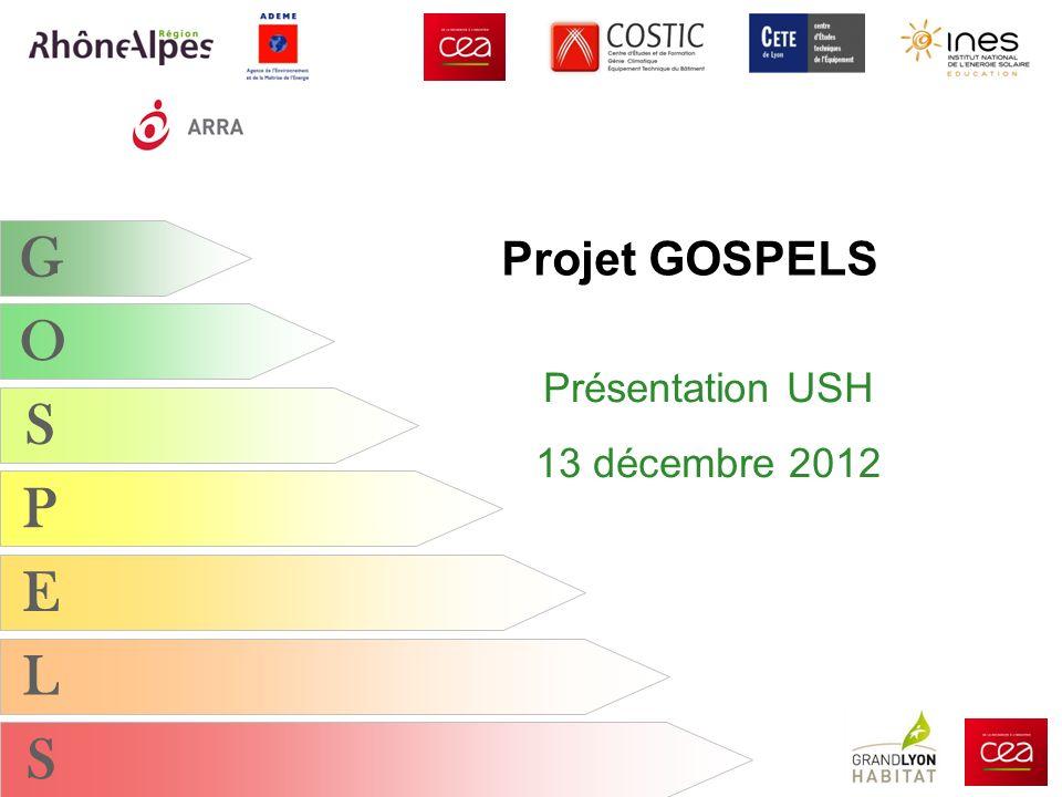G O S P E L S Projet GOSPELS Présentation USH 13 décembre 2012
