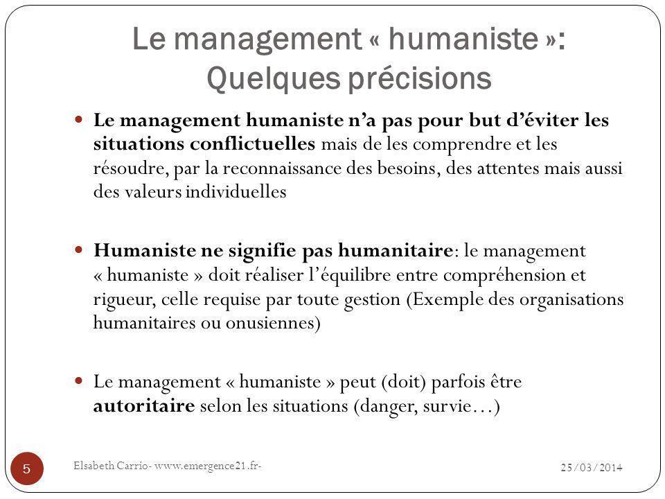 Comment mettre en place un management « humaniste ».