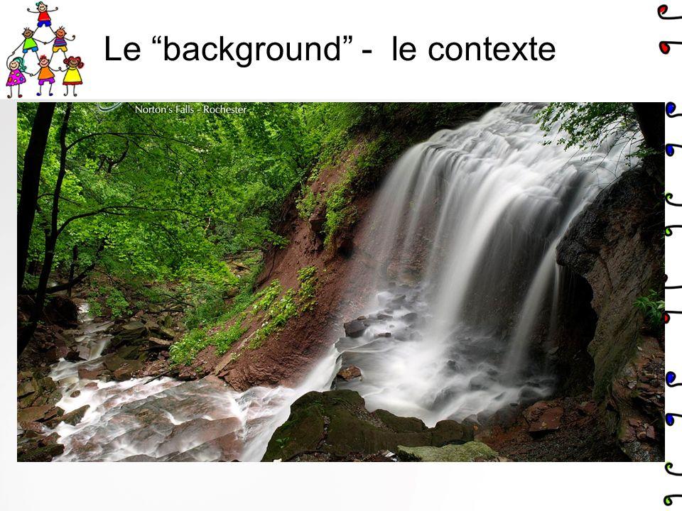 Le background - le contexte