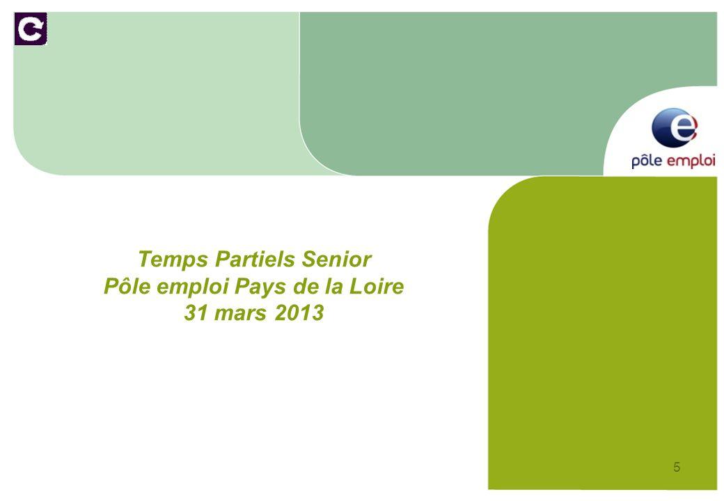 6 Nombre de demandes de temps partiel senior par mois et écarts en ETP – données au 31/03/2013