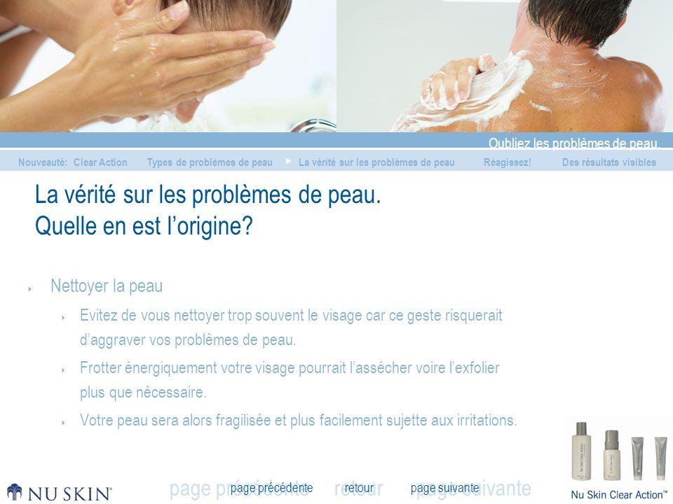 retour Oubliez les problèmes de peau.