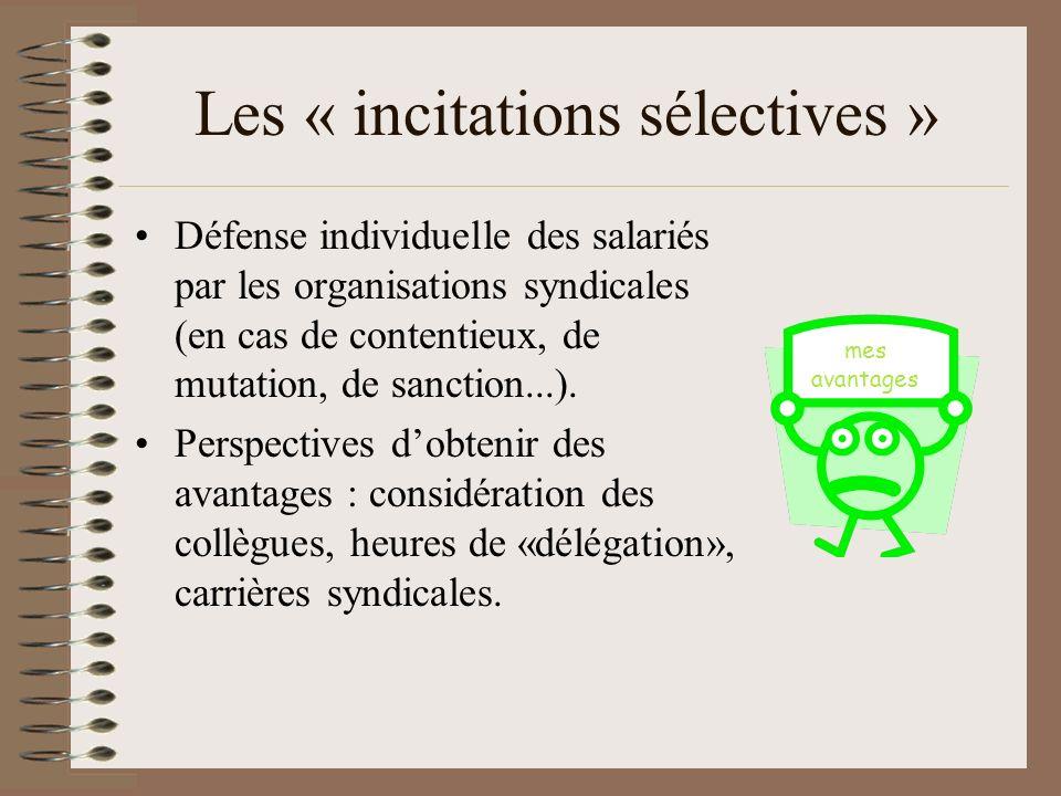 Comment expliquer alors laction collective ? Olson évoque les « incitations sélectives » Eric Neveu, sociologie des mouvements sociaux, La Découverte