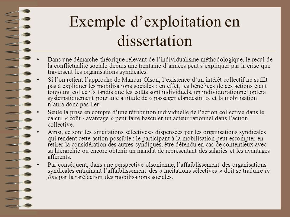 Comment lutiliser en dissertation .