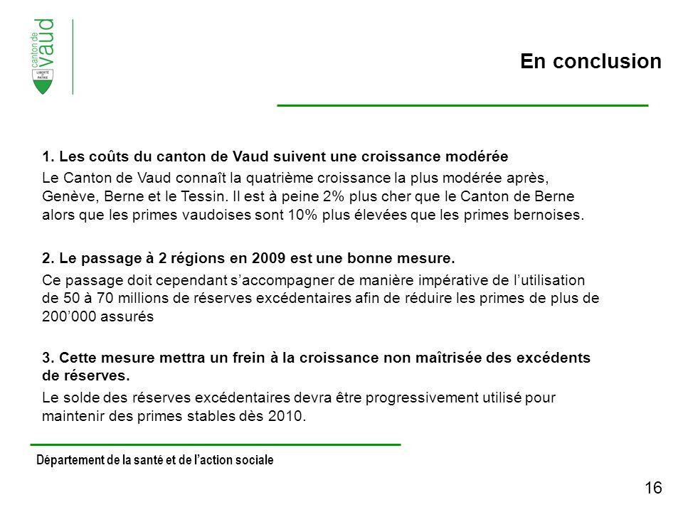 Département de la santé et de laction sociale En conclusion 1.