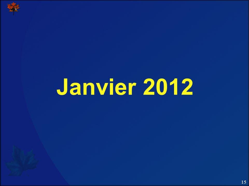 15 Janvier 2012