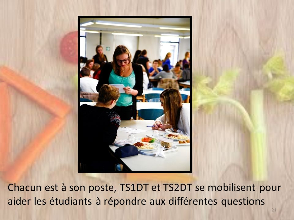 Chacun est à son poste, TS1DT et TS2DT se mobilisent pour aider les étudiants à répondre aux différentes questions 21