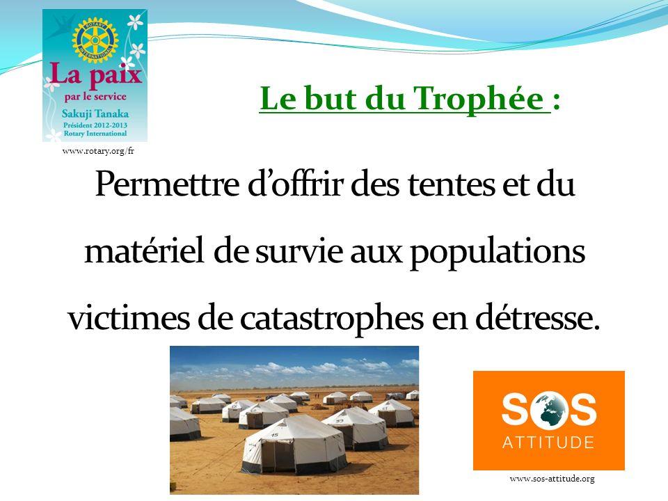 Permettre doffrir des tentes et du matériel de survie aux populations victimes de catastrophes en détresse.