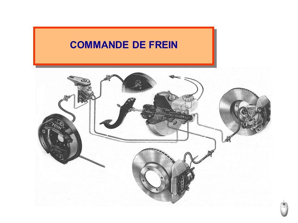 CARACTERISTIQUES FONCTIONNELLES Temps de mise en action très bref (efficacité) Dosage précis du freinage (progressivité) Répartition de la force de freinage (stabilité) Faible effort de la part du conducteur (confort) Suite
